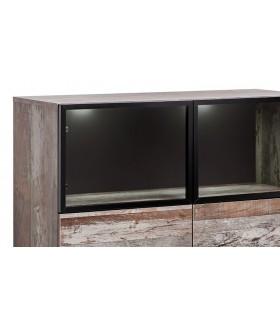 PLANK WSN alacsony vitrin, 100*40*120 cm