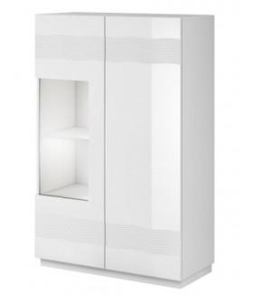Alabaster AB-05 alacsony vitrin, 90x41x141 cm