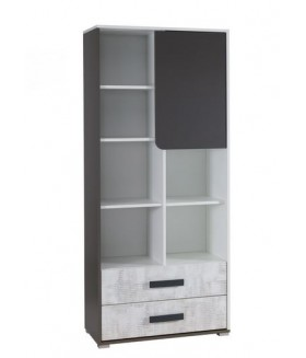 Brno R2 polcos szekrény, 80x35x180 cm