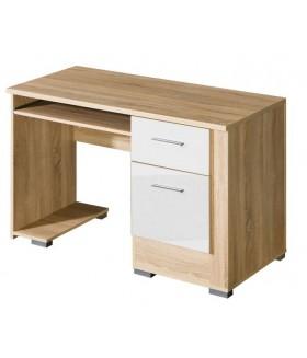 Carmelo C15 íróasztal, 120x54x79 cm - sonoma/fehér