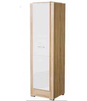 Carmelo C2 1 ajtós polcos szekrény, 56x54x198 cm - sonoma/fehér