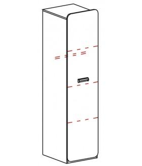 Ego L2 1 ajtós szekrény, 45*52*188 cm