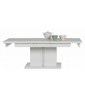 Irma IM12 bővíthető dohányzóasztal, 114/144x68x52 cm - fehér