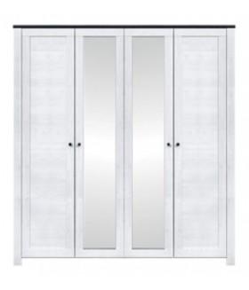 Antverpen 4D tükrös gardrób, 196*61,5*212 cm