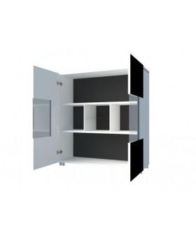Gordia K2D komód, 100x35x107 cm - fekete