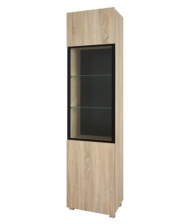 Gordia WIT1D vitrin, 50x35x200 cm - sonoma