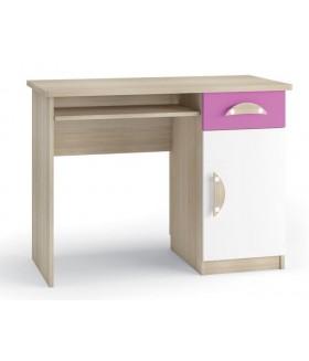 Tenus II. BIU íróasztal, 100x50x76 cm - rózsaszín