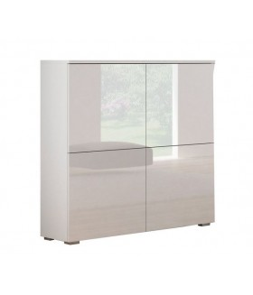 Livo KM-100 komód, 100x29x100 - fehér