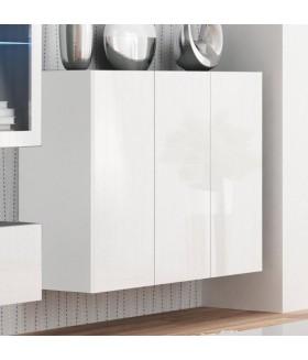 Livo KM-120 3 ajtós fali szekrény, 120x40x90 - fehér