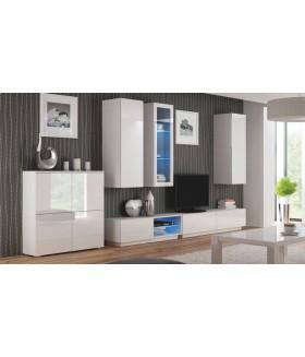 Livo RTV-160W fali TV szekrény, 160x40x30 - fehér