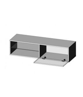 Livo RTV-120W fali TV szekrény, 120x40x30 - fehér