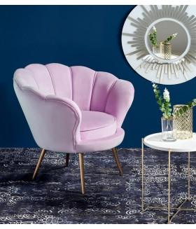 Amorino fotel, 94*74*83 cm - rózsaszín