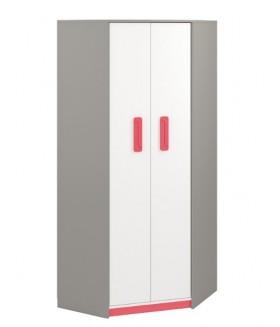 IQ 01 sarok szekrény, 82x82x199 cm - málna