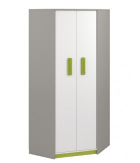 IQ 01 sarok szekrény, 82x82x199 cm - zöld