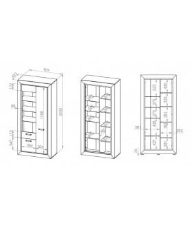 Mocca 04 vitrin, 91x43x203 cm