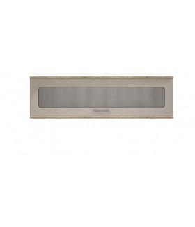 Mulatto SZW1W fali vitrin, 135x25x40 cm - kanyon tölgy/cappuccino