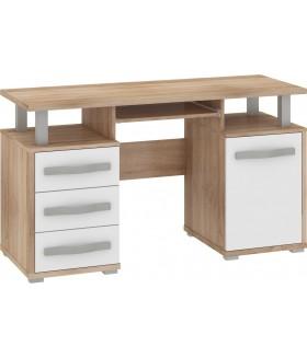 Angel ANG-03 íróasztal, 135*58*77 cm - sonoma / fehér