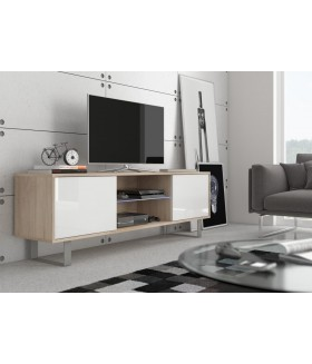 King 2. nappali bútor - világos sonoma/fényes fehér
