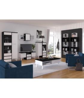 Nordis 1. nappali bútor - fekete/fehér