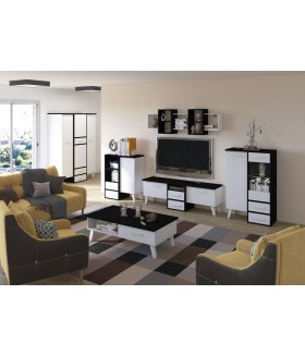Nordis 2. nappali bútor - fekete/fehér