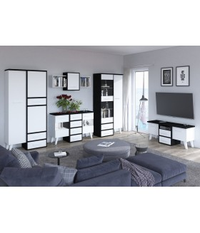 Nordis 5. nappali bútor - fekete/fehér