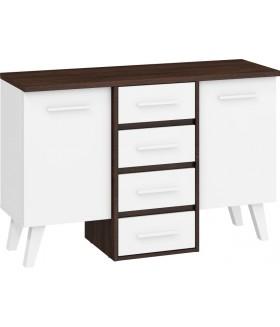 Nordis 3. nappali bútor - sötét sonoma/fehér