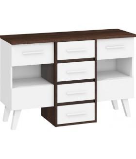 Nordis 5. nappali bútor - sötét sonoma/fehér