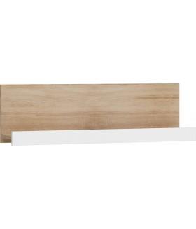 VIKI VIK-02 fali polc, 100*22*30 cm - sonoma/fényes fehér