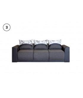 Adrienn 3. kanapé, 230x107x73 cm - sötét barna