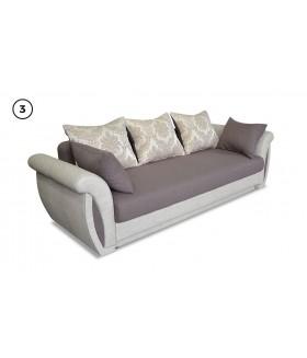 Arlen 3. kanapé, 252*100*85 cm - barna/bézs