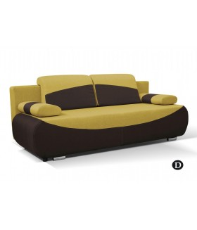 Bobi kanapé, 210x90x74 cm - mustár/barna