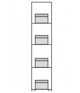 Obsession O3 polcos szekrény, 45x40x198 cm