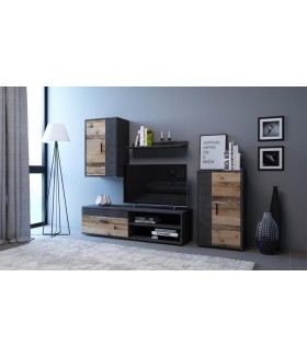 Berno szekrénysor, 150*40*190 cm - Matera/Old Style