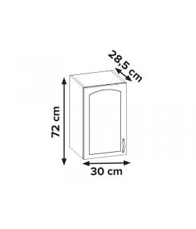 Aliso AL-01 fali szekrény, 30x28,5x72 cm