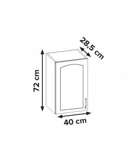 Aliso AL-02 fali szekrény, 40x28,5x72 cm