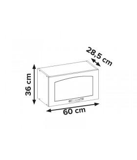 Aliso AL-03 fali szekrény, 60x28,5x36 cm