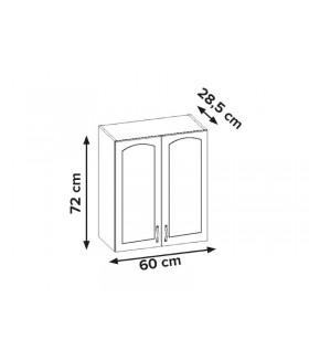 Aliso AL-04 fali szekrény, 60x28,5x72 cm