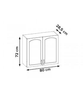 Aliso AL-05 fali szekrény, 80x28,5x72 cm