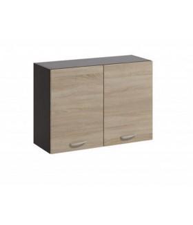 Livia LV-06 fali szekrény, 80x28,5x57,5 cm - világos sonoma