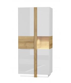 Alicante ALS-2+ALDW-2 vitrines szekrény, 90*55,8*195 cm