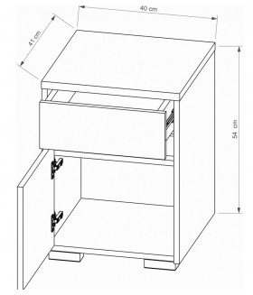 ARIZONA RRN-1 konténer, 40*41*55 cm