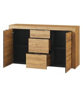 Kama 45 2 ajtós+3 fiókos komód, 151*40*86 cm