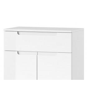 Selene 19 2 ajtós+1 fiókos komód, 70*40*101 cm - fehér
