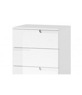 Selene 2 4 fiókos komód, 50*40*80 cm - fehér