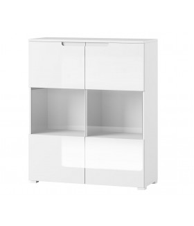 Selene 27 alacsony vitrin, 100*39*119 cm - fehér