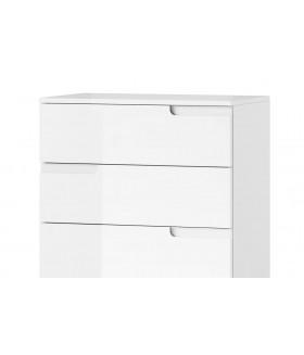 Selene 3 6 fiókos komód, 65*40*119 cm - fehér