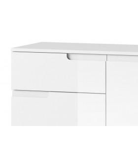 Selene 5 1 ajtós+4 fiókos komód, 100*40*80 cm - fehér
