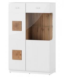Wood 15 alacsony vitrin, 89x40x145 cm