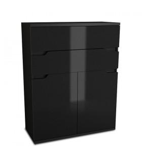 Adonis AS01 komód, 79*35*103 cm - fekete