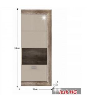 Gatik 111 fali vitrin, 53x34x132 cm